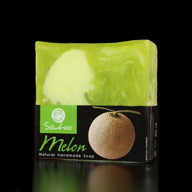 Savon carré naturel au Melon