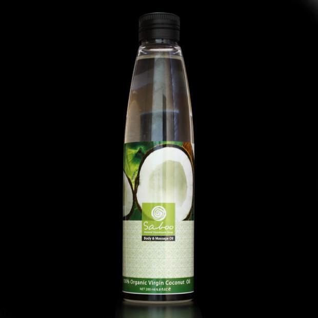 Huile de massage de noix de coco vierge - 200ml