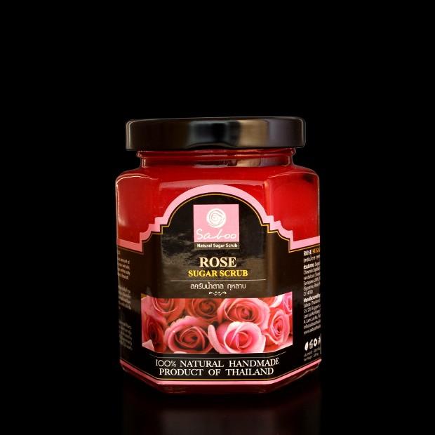 Gommage au sucre et rose